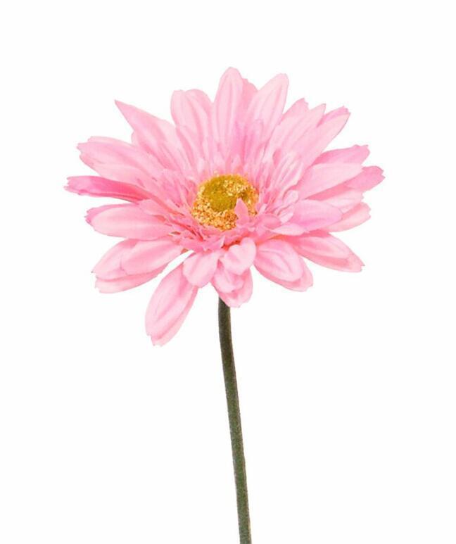 Keinotekoinen Gerbera -kukka vaaleanpunainen 60 cm