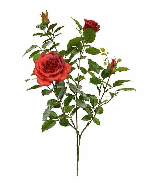 Keinotekoinen haara Punainen ruusu 70 cm