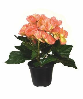 Keinotekoinen kasvi Begonia oranssi 20 cm