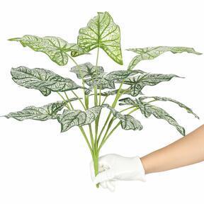 Keinotekoinen kasvi Calladium kaksivärinen 50 cm