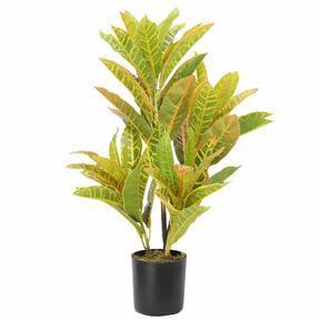 Keinotekoinen kasvi Croton-täplikäs 55 cm