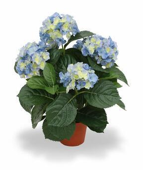 Keinotekoinen kasvi Hydrangea blue 45 cm