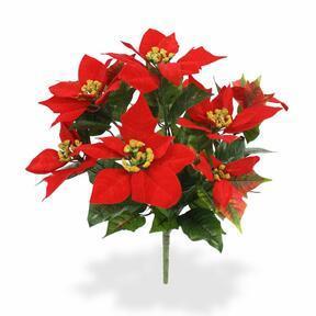 Keinotekoinen kasvi joulun ruusunpunainen 40 cm