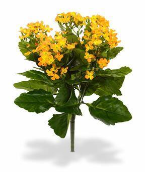 Keinotekoinen kasvi Kalanchoa oranssi 30 cm