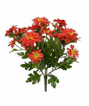 Keinotekoinen kasvi Krysanteemi oranssi 35 cm