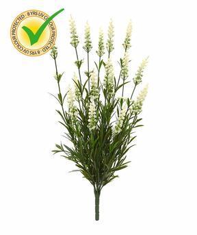 Keinotekoinen kasvi Laventeli valkoinen 50 cm