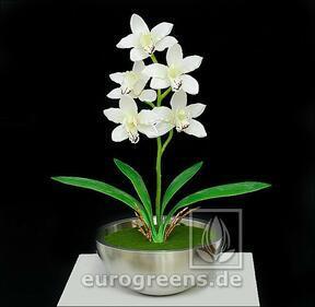 Keinotekoinen kasvi Orchidea Cymbidium kerma 50 cm