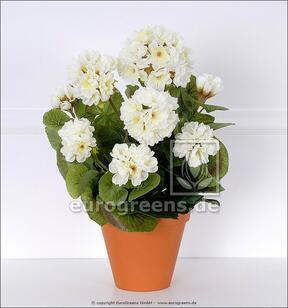 Keinotekoinen kimppu Geranium valkoinen 40 cm