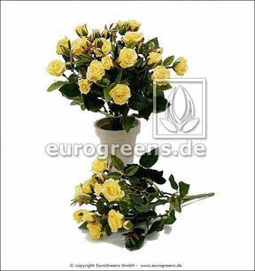 Keinotekoinen kimppu Keltainen ruusu 25 cm