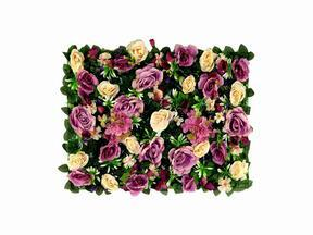 Keinotekoinen kukkapaneeli Rose ja Hydrangea - 40x60 cm