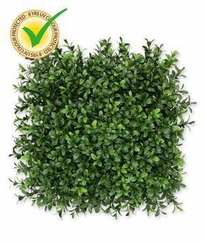 Keinotekoinen lehtipuulevy Buxus - 25x25 cm
