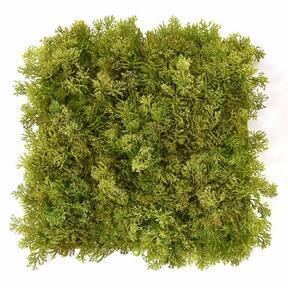 Keinotekoinen ruskea sammalpaneeli - 25x25 cm