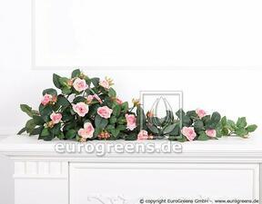 Keinotekoinen ruusu vaaleanpunainen 70 cm