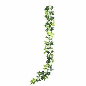 Keinotekoinen seppele Ivy valko-vihreä 190 cm