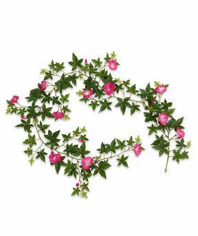 Keinotekoinen seppele Petunia pinkki 180 cm
