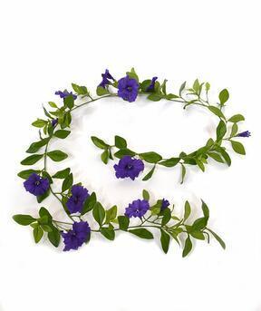 Keinotekoinen seppele Petunia violetti 180 cm