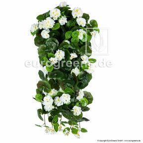 Keinotekoinen siipi Geranium valkoinen 70 cm