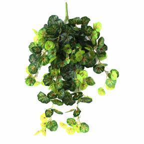 Keinotekoinen siipi Geranium vihreä-punainen 80cm
