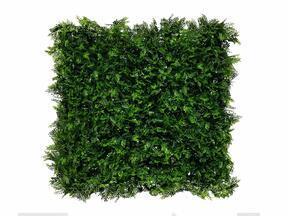 Keinotekoinen tummanvihreä lehtipuu Saniainen - 50x50 cm
