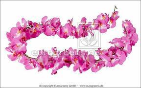 Keinotekoinen vaaleanpunainen orkidea 200 cm