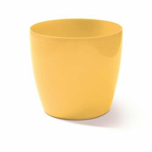 Kukkaruukku COUBI pyöreä vaaleankeltainen 9cm