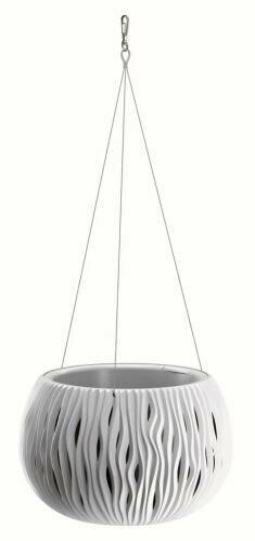 Kukkaruukku, jossa terä ja terä. kaapeli SANDY BOWL WS valkoinen 23,8 cm