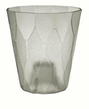 Kukkaruukku ROCKA P läpinäkyvä jääharmaa 17,0 cm
