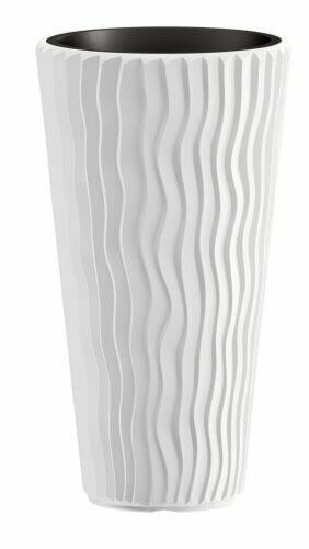 Kukkaruukku SANDY SLIM + insertti valkoinen 39 cm