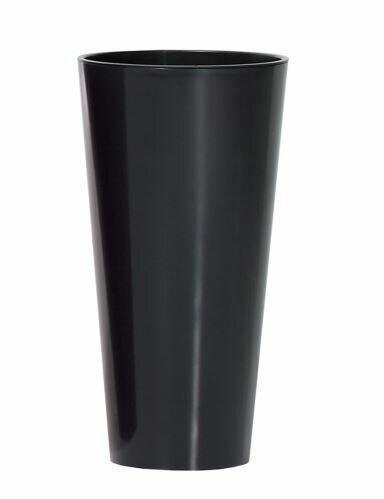 TUBUS SLIM kukkaruukku + kiiltävä antrasiitti 20 cm
